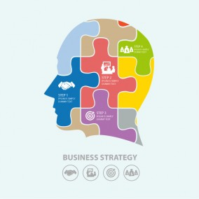 Business Head Puzzle Illustration