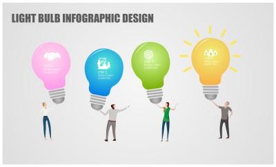 Light Bulb Infographic Design