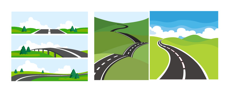 Road Illustrations Concept