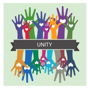 Unity Hands Illustration Concept