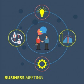 Business Meeting Illustration Design