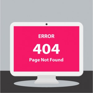 Computer 404 Error Page Graphic