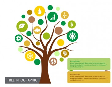 Tree Infographic Diagram Illustration