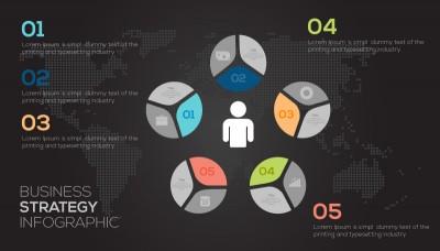 Creative Office Diagram Illustration