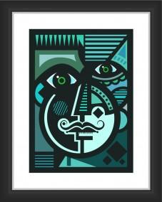 Modern Art Face Illustration