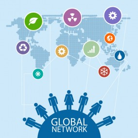 Global Social Design Vector Image