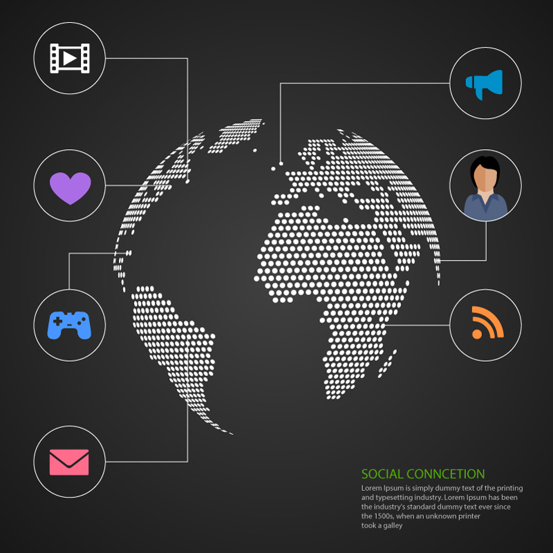 Global Network Diagram Vector - FreePhotos online