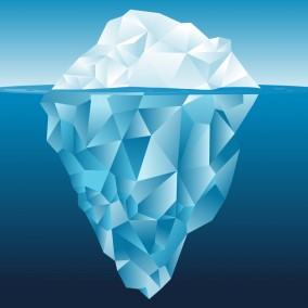 Tip of the Iceberg Illustration
