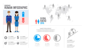 Free Human Infographic Design PSD