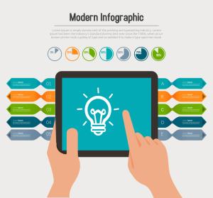 Modern Infographic PSD Design