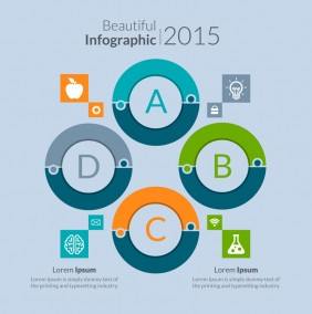 Beautiful Circular Diagram Infographic PSD