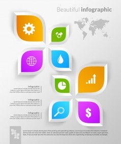 Beautiful Flower Diagram Infographic Design PSD