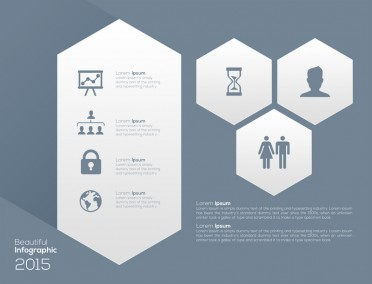 Hexagon Infographic Design PSD