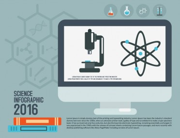 Science Infographic Design PSD