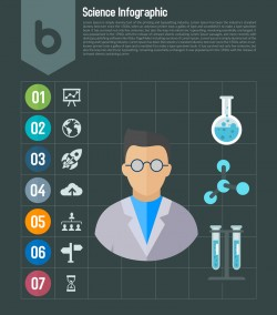 Science Infographic Toolkit Design PSD
