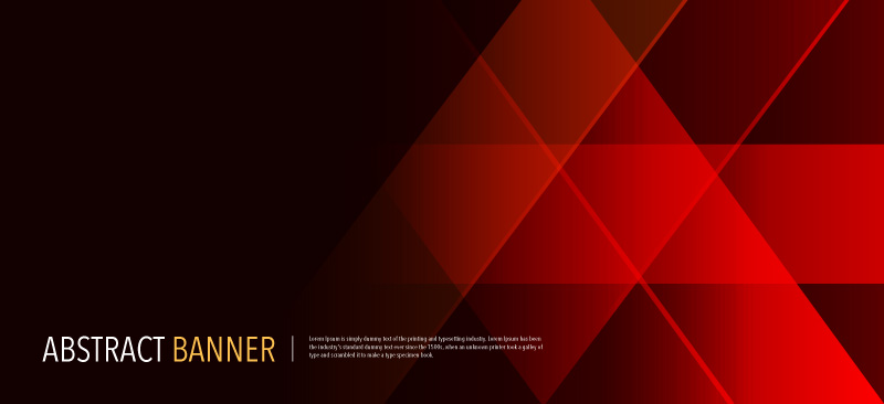 Free Abstract Red Banner Illustration