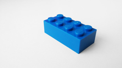 Free Blue Lego Block Photo