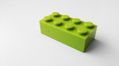 Free Green Lego Block Photo